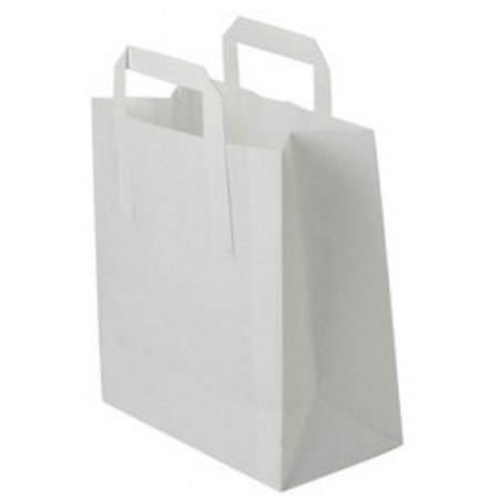 White Twisted Handle Paper Carrier Bags - Packaging Direct