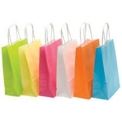 Coloured Twisted Handle Bags - Packaging Direct