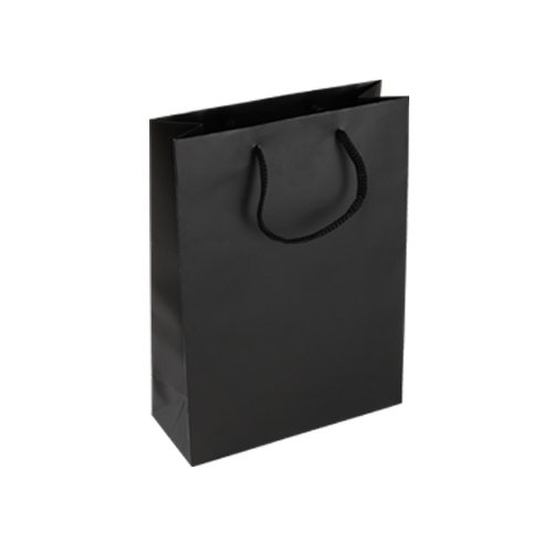Luxury Black Rope Handle Bags - Packaging Direct