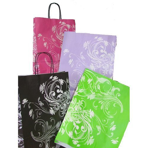 Printed Twisted Handle Bags - Packaging Direct