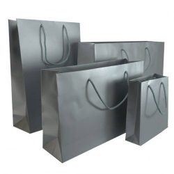 Silver Rope Handle Bag - Packaging Direct
