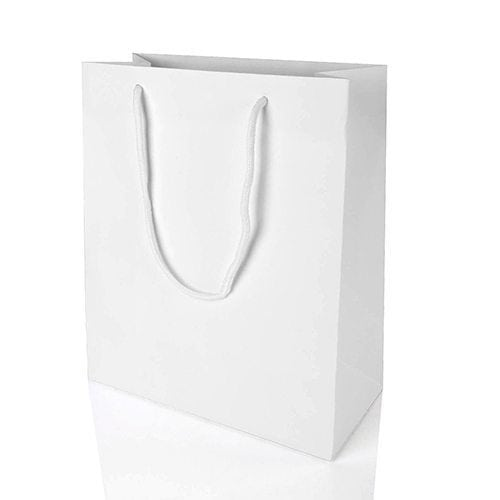 White Rope Handle Bag - Packaging Direct
