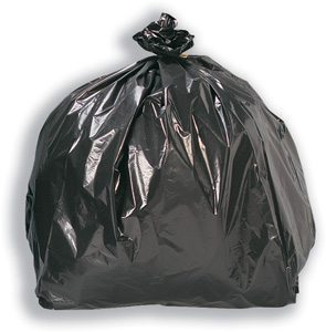 26x44 Black Refuse Sacks 300g