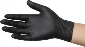 Black Nitrile Gloves P/Free