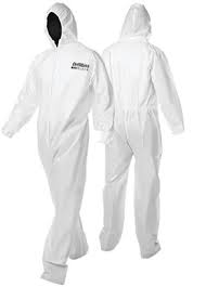 Coverall (Large )  White & Blue