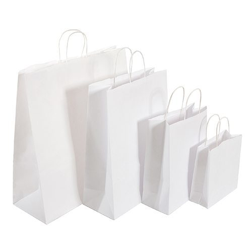 White Twisted Handle Bags - Packaging Direct